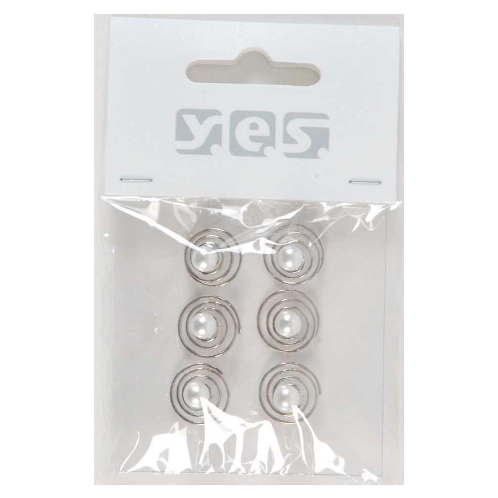 Solida Haarspiralen Perle, 6 Stück