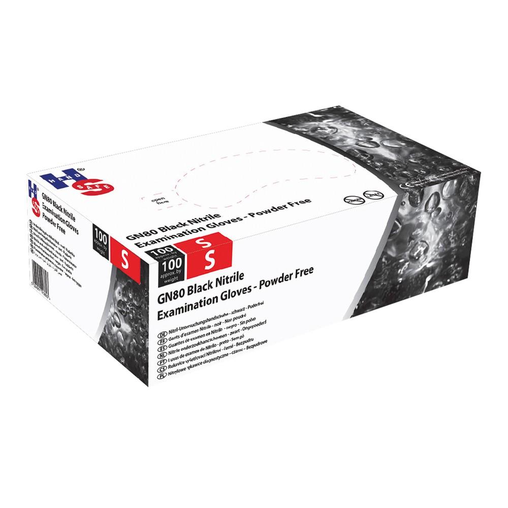 Comair Nitrilhandschuhe XL schwarz puderfrei 100er Box