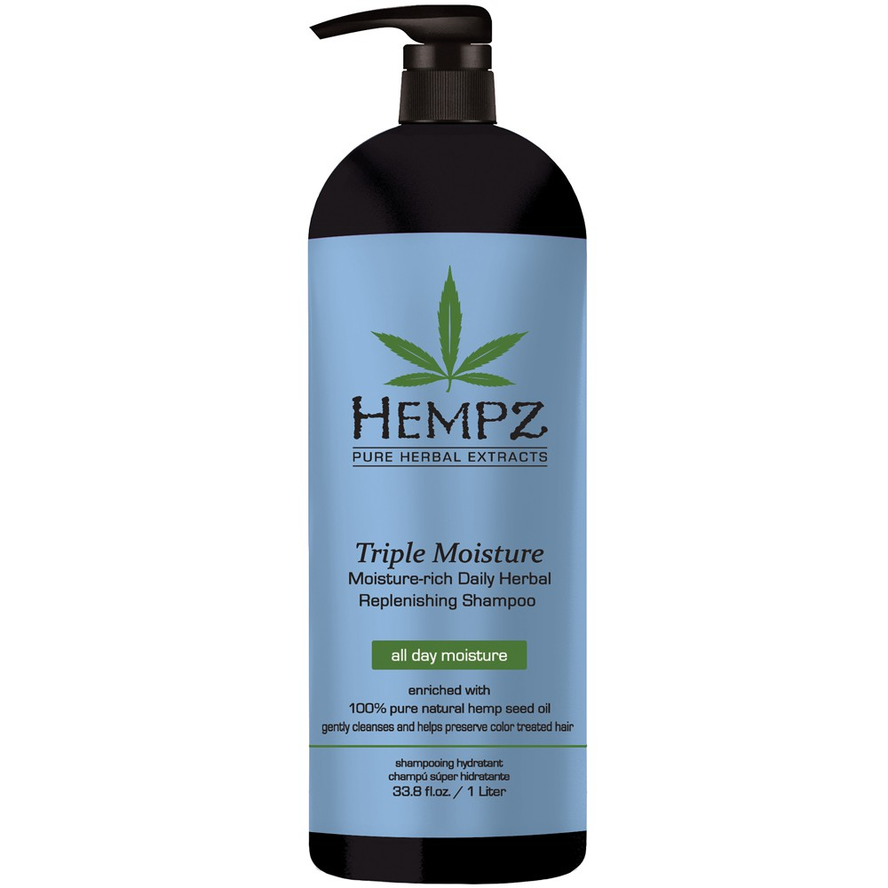 Hempz Triple Moisture Replenishing Shampoo 1000 ml