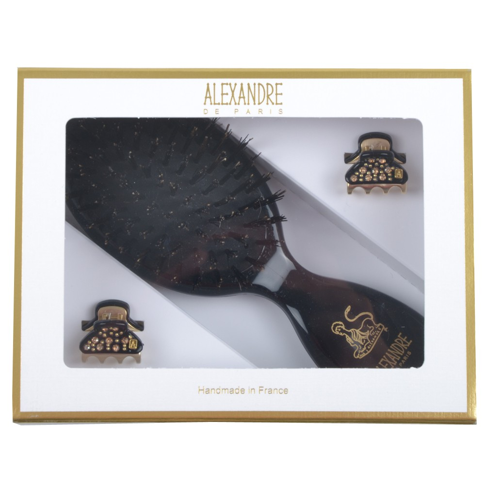 Alexandre de Paris Black All Strass in Geschenkebox