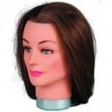 Efalock Übungskopf Frauen Haarlänge 40-45 cm mittelbraun