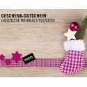 """hagel-shop Geschenk-Gutschein """"Hairzliche Weihnachtsgrüße"""""""