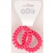 Solida Zopfabbinder Telefonkabel Textil, pink, 2 Stück