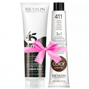 Revlon Revlonissimo 45 Days Radiant Darks 275 ml + Revlon Nutri Color Braun 411 100 ml