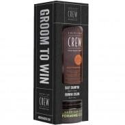 American Crew Groom To Win Daily Shampoo 250 ml & Forming Cream 85 g