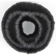 Solida Knotenring mit Kunsthaar 7,8 cm dunkel