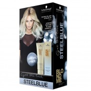 Schwarzkopf Blondme Instant Blush Duo Pack Stahlblau