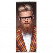 "Trend Design Hang-on Banner L ""Mann mit Karojacke"""