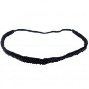 Comair Haarband Fischgräte schwarz