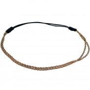 Comair Haarband gedreht bronze/weiß