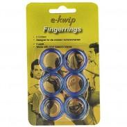e-kwip Finggerringe 3 x 2 Blau