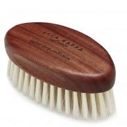 Acca Kappa Beard Brush aus Kotibe-Holz mit weißen Borsten