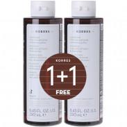 Korres 1+1 Set Aloe & Dittany Shampoo 2 x 250 ml