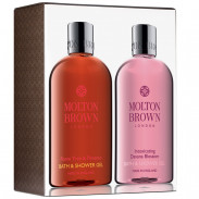Molton Brown Flame Tree & Pimento And Intoxicating Davana Blossom Bathing Duo