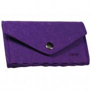 Canal Manikür-Etui aus Filz mit Druckknopf violett, unbestückt