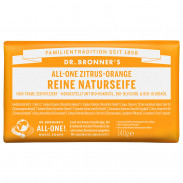 Dr. Bronner's Reine Naturseife Zitrus-Orange 140 g