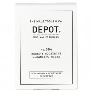 DEPOT 504 Beard & Moustache Cleansing Wipes 12er Pack