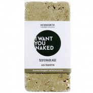 I WANT YOU NAKED Seifenablage aus Tavertin