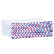 1o1BARBERS Barber Towel White/Red/Blue 20x40cm