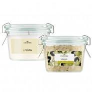 LaNature Badesalz Olive & Duftkerze Lemon
