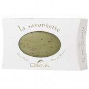 LaNature Pflanzenölseife Olive mit echten Blütenblättern oval 100 g