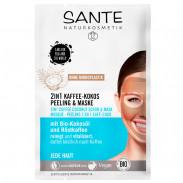 SANTE 2 in 1 Kaffee-Kokos Peeling & Maske 8 ml