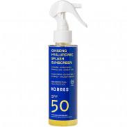 Korres Ginseng Hyaluronic Splash SPF50 2-Phasen-Sonnenschutzspray - Gesicht & Körper 150 ml
