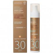 Korres Red Grape SPF30 Anti-Ageing/ Anti-Spot getönte Sonnencreme Matt 50 ml