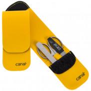 Canal Stecketui recycelter LKW-Plane, gelb, 3-teilig