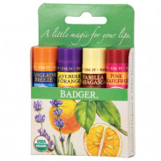 Badger Green Classic Lip Balm 4er Set