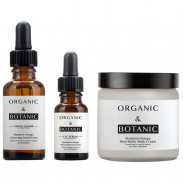 Organic&Botanic Mandarin Orange Facial Serum + Eye Serum + Shea Butter Body Cream
