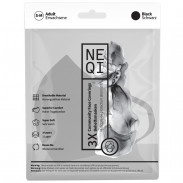 NEQI Community Face Coverings, black, S-M, 3 Stück