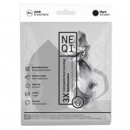 NEQI Community Face Coverings, black, M-L, 3 Stück