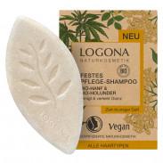 LOGONA Festes Pflege Shampoo Bio-Hanf & Bio-Holunder 60 g