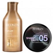 Redken All Soft Bundle Shampoo & Dry Shampoo Paste 05