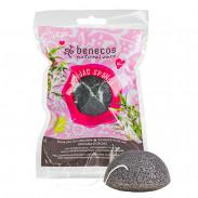 Benecos Natural Konjac Sponge Black Bamboo