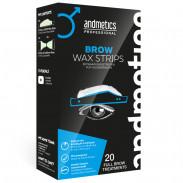 andmetics Brow Wax Strips Men 20 Stück