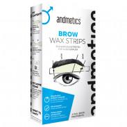andmetics Brow Wax Strips Men 4 Paar