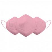 Eliware FFP2 Einweg Atemschutzmaske - pink 5 Stück