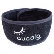 aucola Haarband 3er Set schwarz mit weißer Stickerei