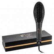 Golden Curl Str8 Haarglätter Bürste (Schwarz)