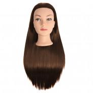 Efalock Übungskopf Emotion Lexa Synthetik-Haar braun 60 cm