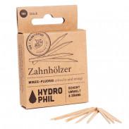 Hydrophil Zahnhölzer mit Minze & Flourid 150 Stück