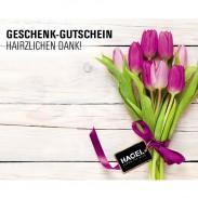 Hagel Geschenk-Gutschein Danke Blumen