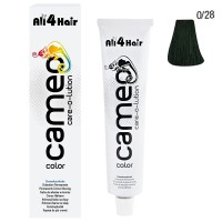 LOVE FOR HAIR Professional cameo color care-o-lution 0/28 grün 60 ml
