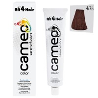 LOVE FOR HAIR Professional cameo color care-o-lution 4/75 mittelbraun braun-mahagoni 60 ml
