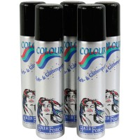 Hairforce Color Glitterspray silber 75 ml