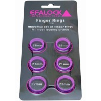 Efalock Fingerringe-Set Smooth 12 Stück
