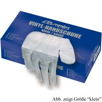 Comair Vinyl-Handschuhe gepudert groß 100er Box