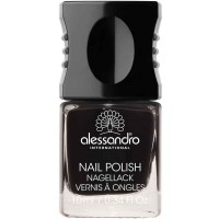 alessandro International Nagellack 77 Midnight Black 10 ml